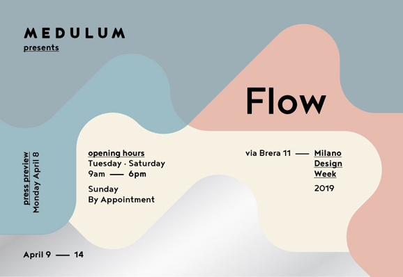 Flow, the Medulum show during Fuorisalone 2019